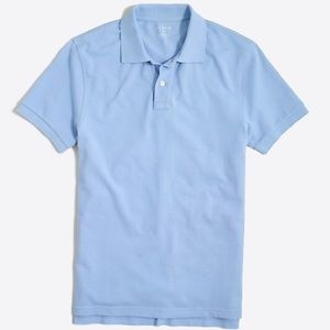 J. Crew Washed Pique Cotton Polo Shirt